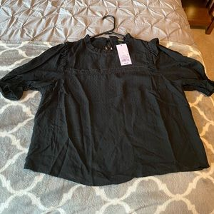NWT Wild Fable eyelet top
